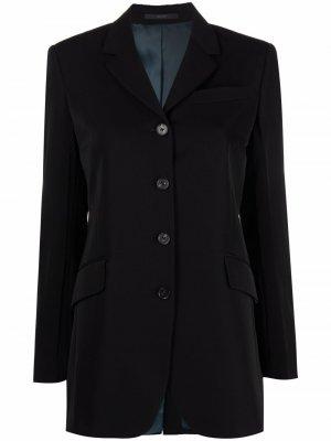 Single-breasted wool blazer PAUL SMITH. Цвет: черный