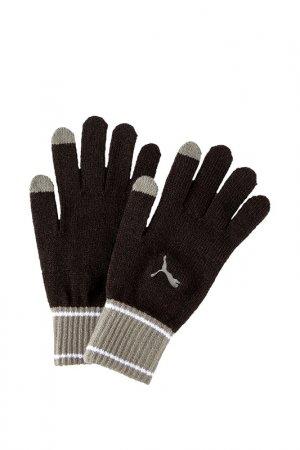 Перчатки Puma. Цвет: черный