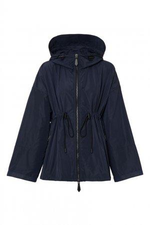 Темно-синяя ветровка с капюшоном Burberry. Цвет: синий