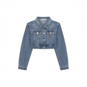 Укороченная куртка из денима Chiara Ferragni. Цвет: синий