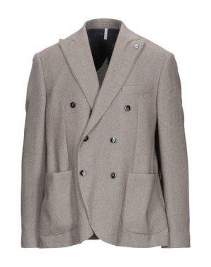 Пиджак DOMENICO TAGLIENTE. Цвет: хаки
