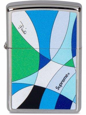 Зажигалка Zippo из коллаборации с Emilio Pucci Supreme. Цвет: синий
