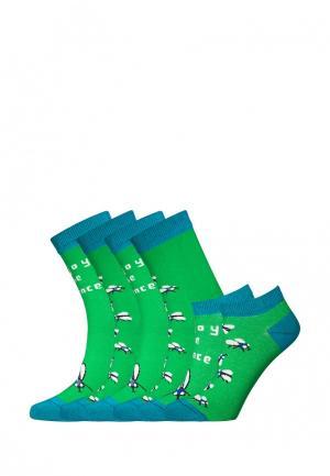 Комплект bb socks. Цвет: зеленый