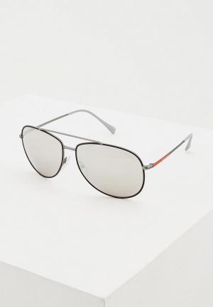Очки солнцезащитные Prada Linea Rossa PS 55US 6BJ2B0. Цвет: серый