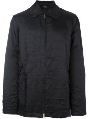 Пиджак с застежкой-молнией Nº21. Цвет: чёрный