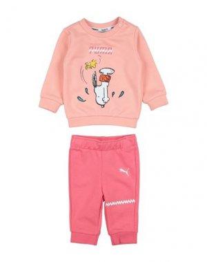 Комплект для малыша PUMA. Цвет: лососево-розовый