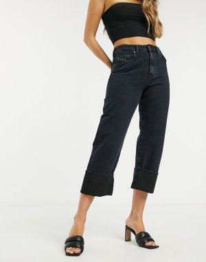 Прямые джинсы цвета индиго с отворотами -Голубой Diesel