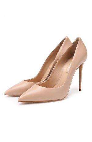 Кожаные туфли Julia Casadei. Цвет: бежевый