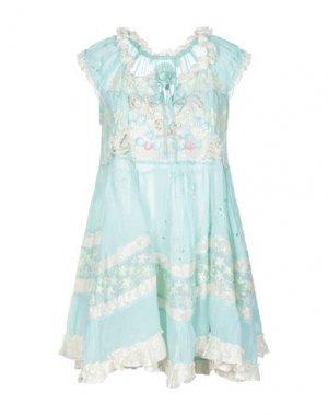 Короткое платье GADO by MARGRIET WAGERAAR. Цвет: светло-зеленый