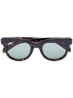 Солнцезащитные очки Brown в оправе черепаховой расцветки visvim. Цвет: коричневый