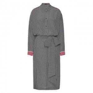 Шелковое платье Escada. Цвет: чёрно-белый