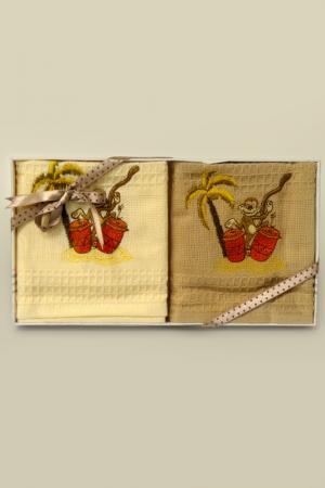 Набор полотенец Sofi De Marko. Цвет: кремовый