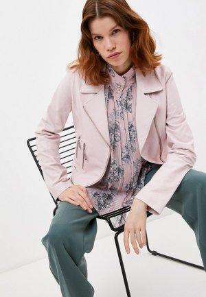 Куртка кожаная Steffen Schraut. Цвет: розовый
