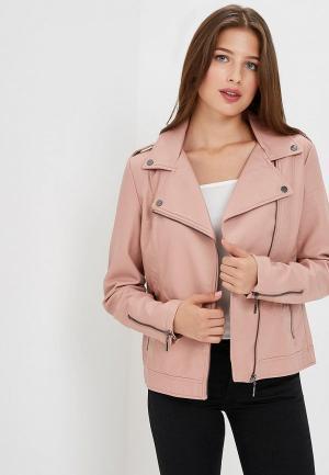 Куртка кожаная Sela. Цвет: розовый