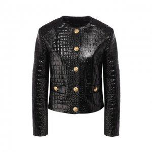 Кожаная куртка Gucci. Цвет: чёрный