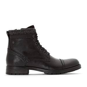 Ботинки JFWMARLY LEATHER BLACK JACK & JONES. Цвет: черный