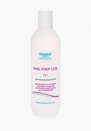Обезжириватель для ногтей Domix и средство снятия липкого слоя 2 в 1. NAIL PREP LUX. БЕЗ РАСТВОРИТЕЛЕЙ. Цвет: прозрачный