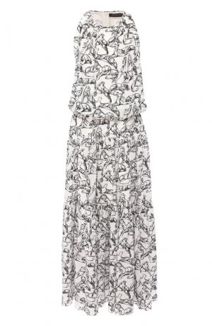 Шелковое платье Chapurin. Цвет: белый