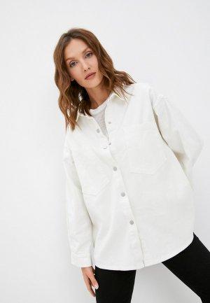 Куртка джинсовая Diverius. Цвет: белый