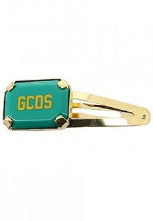 Заколка GCDS. Цвет: зеленый