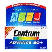 Поливитамины Advance 50 Plus Multivitamin Tablets - (60 таблеток) Centrum