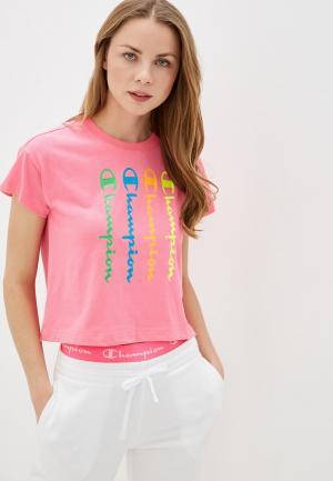 Футболка Champion LEGACY Crewneck T-Shirt. Цвет: розовый