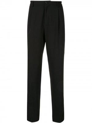 Классические брюки строгого кроя Emporio Armani. Цвет: черный