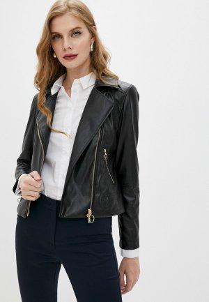 Куртка кожаная Pennyblack CASA. Цвет: черный