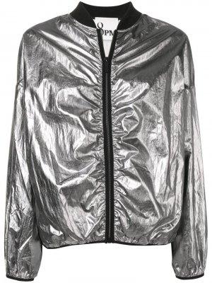 Куртка-бомбер с эффектом металлик 8pm