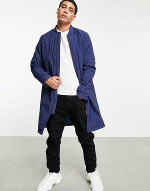 Макинтош с высоким воротом из технической ткани -Темно-синий Bolongaro Trevor