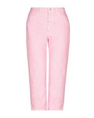 Джинсовые брюки-капри HAIKURE. Цвет: розовый