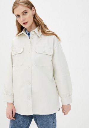 Куртка кожаная Befree. Цвет: белый