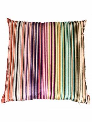 Подушка в полоску Missoni Home. Цвет: фиолетовый