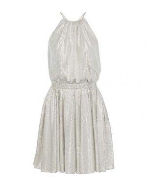 Платье до колена HALSTON. Цвет: серебристый