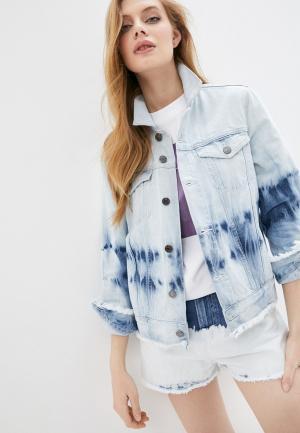 Куртка джинсовая Max&Co. Цвет: голубой