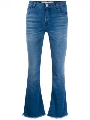 Укороченные джинсы средней посадки Haikure. Цвет: синий
