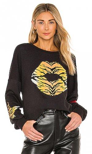 Свитшот sierra tiger lip Lauren Moshi. Цвет: черный