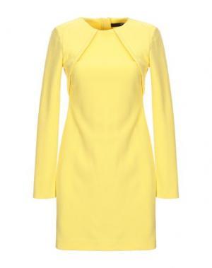 Короткое платье CUT25 by YIGAL AZROUËL. Цвет: желтый