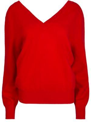 Шерстяной пуловер Victoria Beckham. Цвет: красный