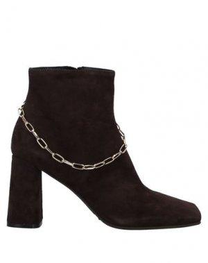 Полусапоги и высокие ботинки ELLA. Цвет: темно-коричневый