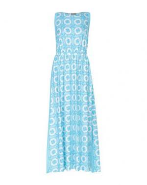 Длинное платье MILA ZB. Цвет: небесно-голубой