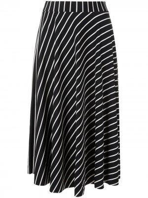 Полосатая юбка А-силуэта Eva. Цвет: разноцветный