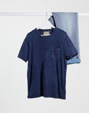 Темно-синяя футболка с логотипом на кармане -Темно-синий Polo Ralph Lauren