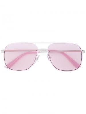 Солнцезащитные очки-авиаторы Vogue. Цвет: розовый и фиолетовый