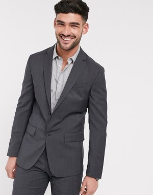 Фактурный пиджак -Серый Calvin Klein