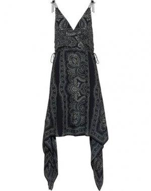Платье до колена HAUTE HIPPIE. Цвет: черный