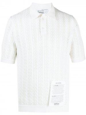 Рубашка поло Raw Diamond с декоративной строчкой Ballantyne. Цвет: белый