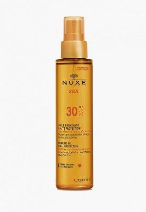 Масло для лица Nuxe SUN SPF 30 150 мл. Цвет: прозрачный