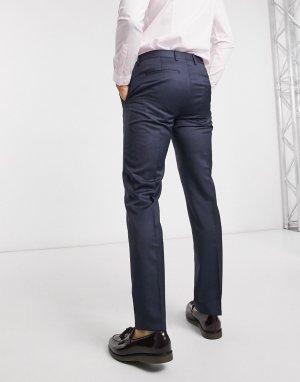 Шерстяные брюки классического кроя -Голубой Tommy Hilfiger