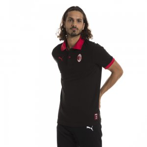 Поло AC Milan Badge Polo PUMA. Цвет: черный